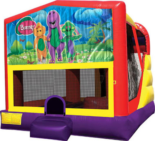 Barney 4in1 inflatable combo bouncer rental ...