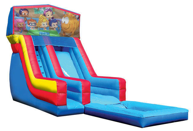 Bubble guppies water slide