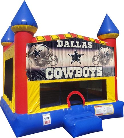 Dallas Cowboys Inflatable bounce house with Basketball Goal