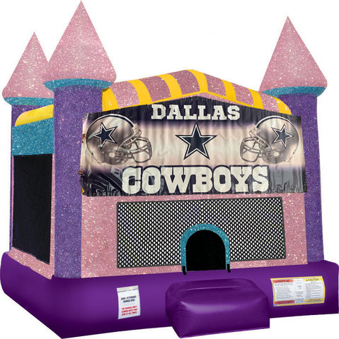 Dallas Cowboys Inflatable bounce house with Basketball Goal Pink