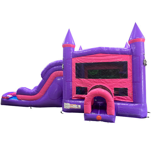 1-Dream Double Lane Wet/Dry with Bounce House