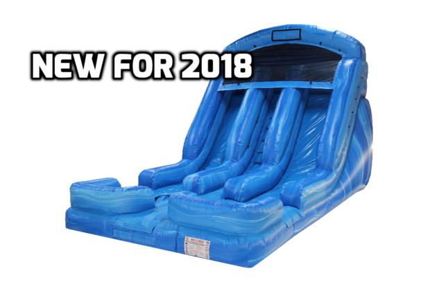 18Ft. Double lane splash water or dry slide
