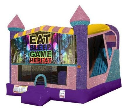 Eat, Sleep, Play Games 4in1 Combo Bouncer Pink
