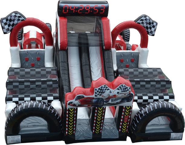 1-Extreme Racing inflatable obstacle course