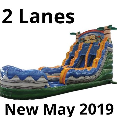 16 Ft. Tiki Plunge water slide double lane