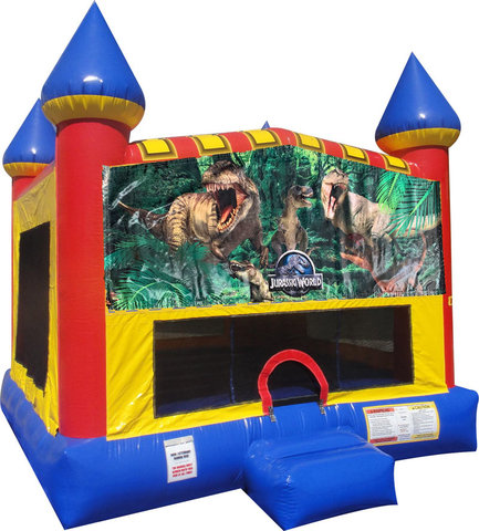Jurassic Park Inflatable Bounce house with Basketball Goal