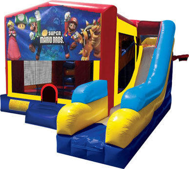 Super Mario Brothers Inflatable Combo 7in1 Bounce House