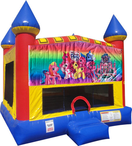 My Little Pony Inflatable Bounce house with Basketball Goal