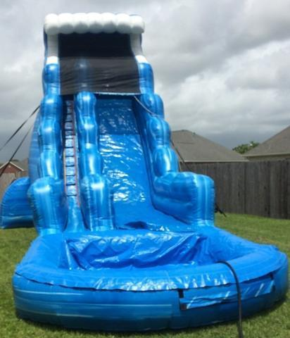 22 Ft. Inflatable Ocean Wave Water Slide with Pool
