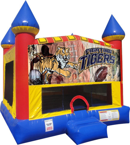 Tigers Inflatable bounce house with Basketball Goal