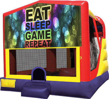 Eat, Sleep, Play Games 4in1 Inflatable Bounce House Combo