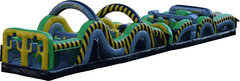65 Ft. Radical Run Caution Obstacle Course Interactive(35 ft. Obstacle & 7 Element Obstacle)
