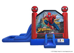 2 in 1 Spiderman Inflatable water slide combo Bounce House rental