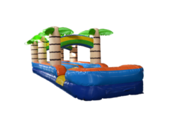 33 Ft Double Lane tropical Slip and Slide Water Slide