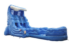 22 Ft. Ocean wave splash Double lane water slide