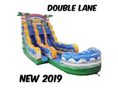 18 Ft. Tiki Plunge Water Slide double lane 2 Day rental
