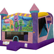 Barney 4in1 Combo Bouncer Pink