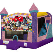 Monster Truck 1 4in1 Combo Bouncer Pink