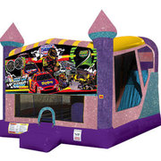 Race Cars 4in1 Combo Bouncer Pink