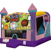 Sports 4in1 combo bouncer pink