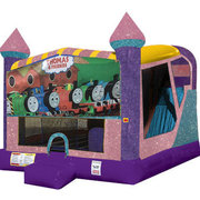 Train 4in1 combo bouncer pink