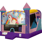 Unicorns 4in1 Combo Bouncer Pink