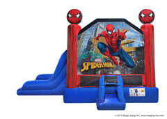 2 in 1 Spiderman Inflatable combo Bounce House rental