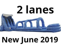27 Ft. Double Lane Pipeline Water Slide with slip and slide