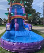 22 Ft. Purple Hurricane Water Slide with full Pool