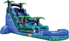 22 Ft. Inflatable Blue crush Water Slide with Pool