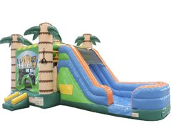 1-Tiki combo water slide