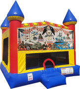 Armed Forces Inflatable bounce house with Basketball Goal