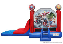 2 in 1 Avengers Inflatable water slide combo Bounce House rental
