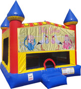 Baby Shower Inflatable bounce house with Basketball Goal