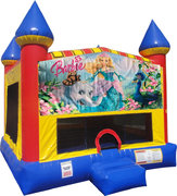 Barbie Inflatable Bounce house with Basketball Goal