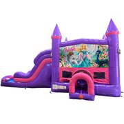Barbie Dream Double Lane Wet/Dry Slide with Bounce House