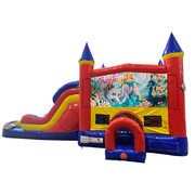 Barbie Double Lane Dry Slide with Bounce House