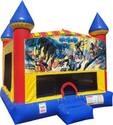 Batman Inflatable bounce house with Basketball Goal