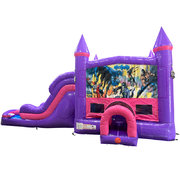Batman Dream Double Lane Wet/Dry Slide with Bounce House