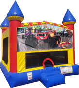 Blaze Inflatable bounce house with Basketball Goal