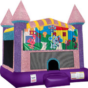 Blues Clues Inflatable bounce house with Basketball Goal Pink