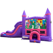 Blues Clues Dream Double Lane Wet/Dry Slide with Bounce House