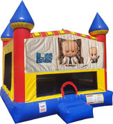 Boss Baby Inflatable Bounce house with Basketball Goal