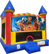 Brother Bear Inflatable Batman Inflatable bounce house with Basketball Goal with Basketball Goal