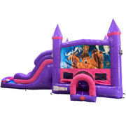 Brother Bear Dream Double Lane Wet/Dry Slide with Bounce House