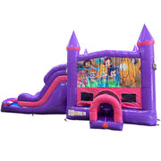 Bubble Guppies Dream Double Lane Wet/Dry Slide with Bounce House