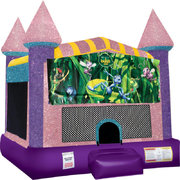Bugs Life Inflatable bounce house with Basketball Goal  Pink