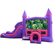 Bugs Life Dream Double Lane Wet/Dry Slide with Bounce House