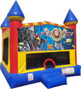 Buzz Lightyear Inflatable bounce house with Basketball Goal