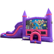 Buzz Lightyear Dream Double Lane Wet/Dry Slide with Bounce House